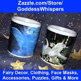 Fairy decor, clothing, face masks, accessories, puzzles, gifts and more at zazzle.com/store/goddesswhispers
